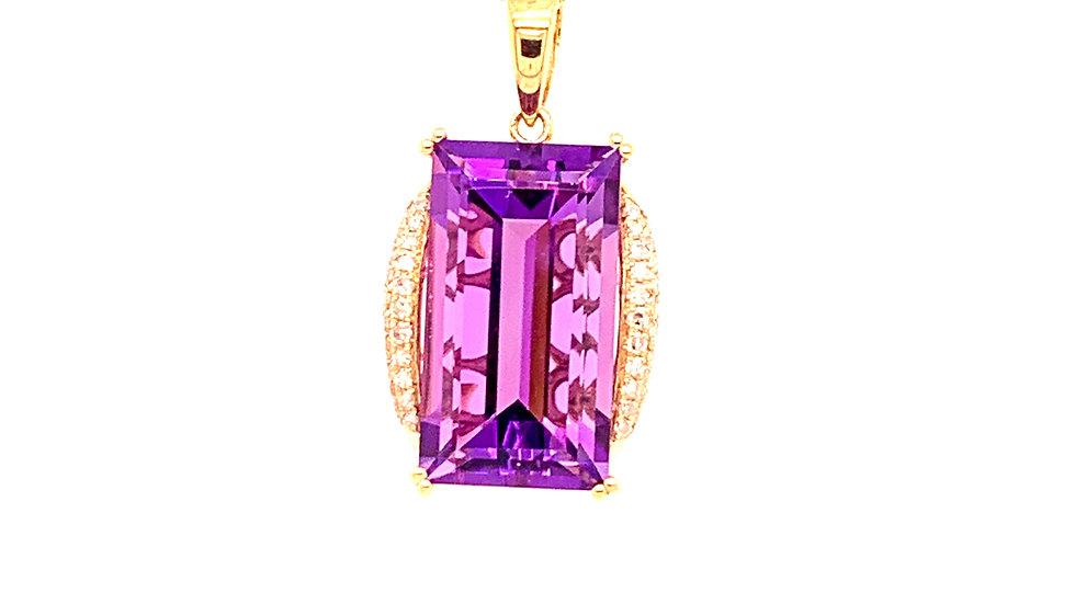 Amethyst & Diamond Necklace