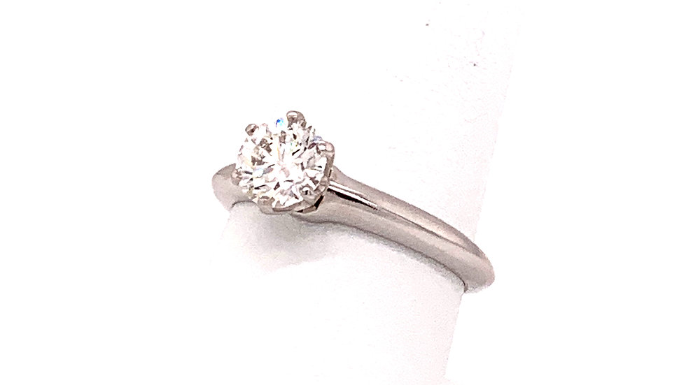 Platinum Tiffany and Co Solitaire Diamond Engagement Ring