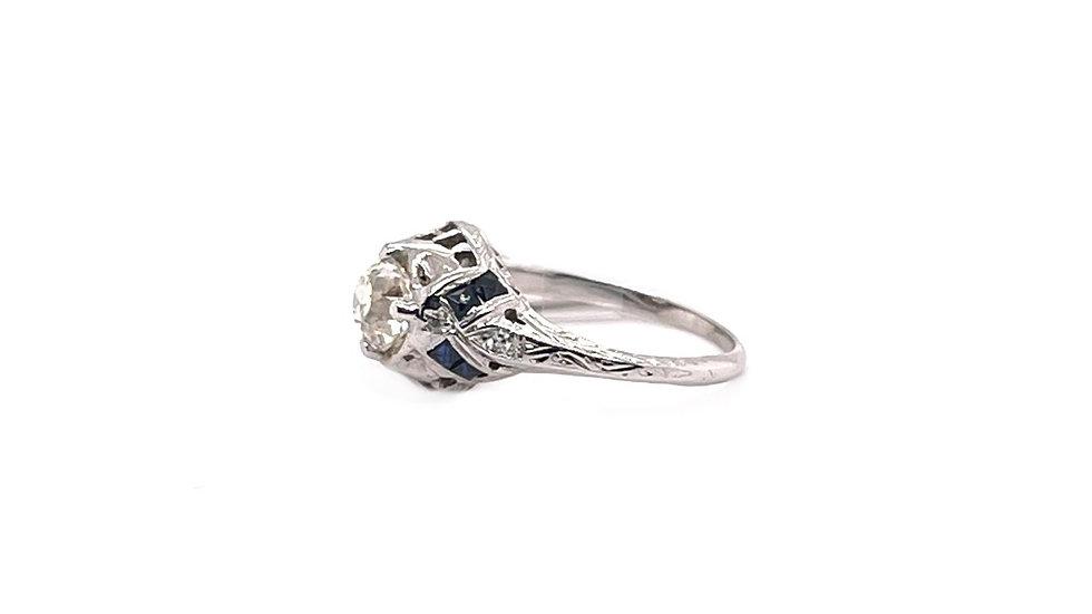 22K Sapphire and Diamond Ring