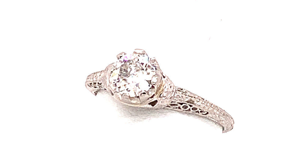 Platinum Diamond Filigree Ring