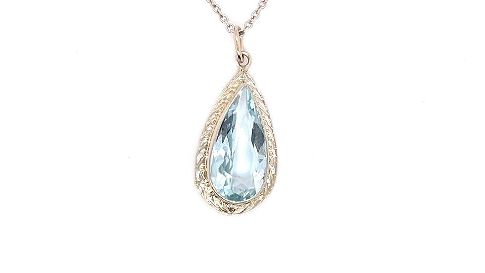 14K Aquamarine Necklace