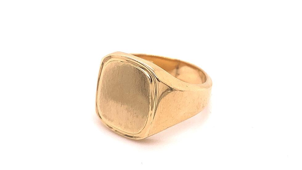 14K Yellow Gold Signet Ring