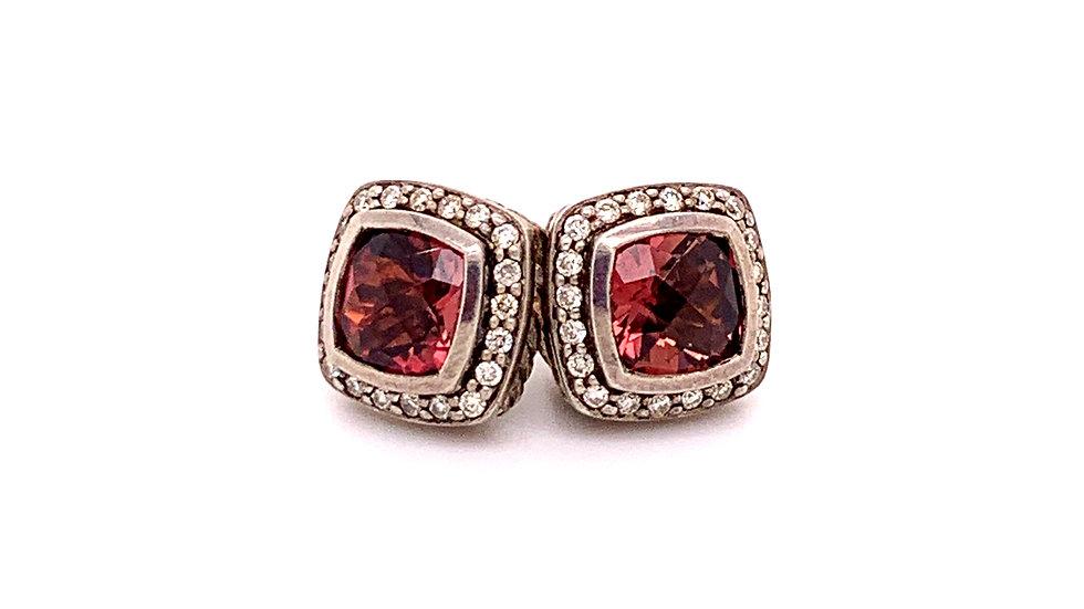 David Yurman Diamond and Tourmaline Earrings