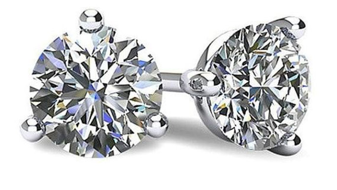 14KW 0.75ctw Lab Grown Diamond Stud Earrings