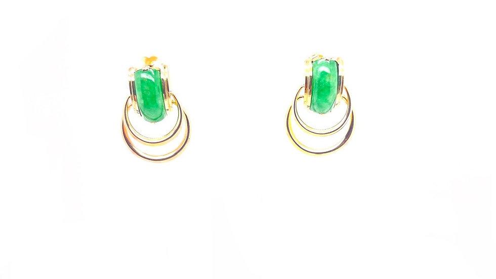 18K Jade Drop Earrings