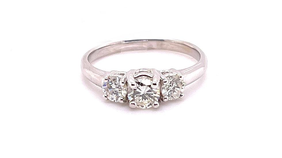 14K 3 Diamond Ring