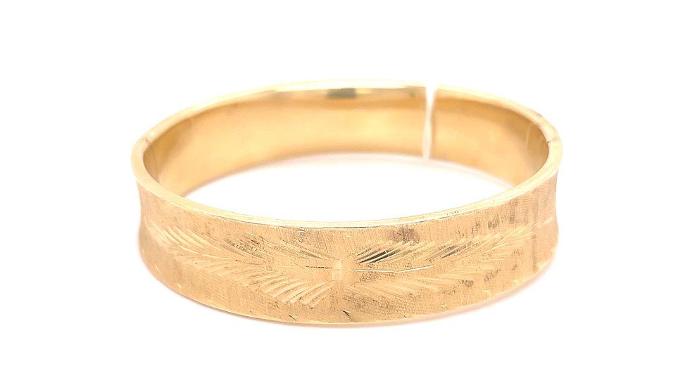 14K Engraved Bangle Bracelet
