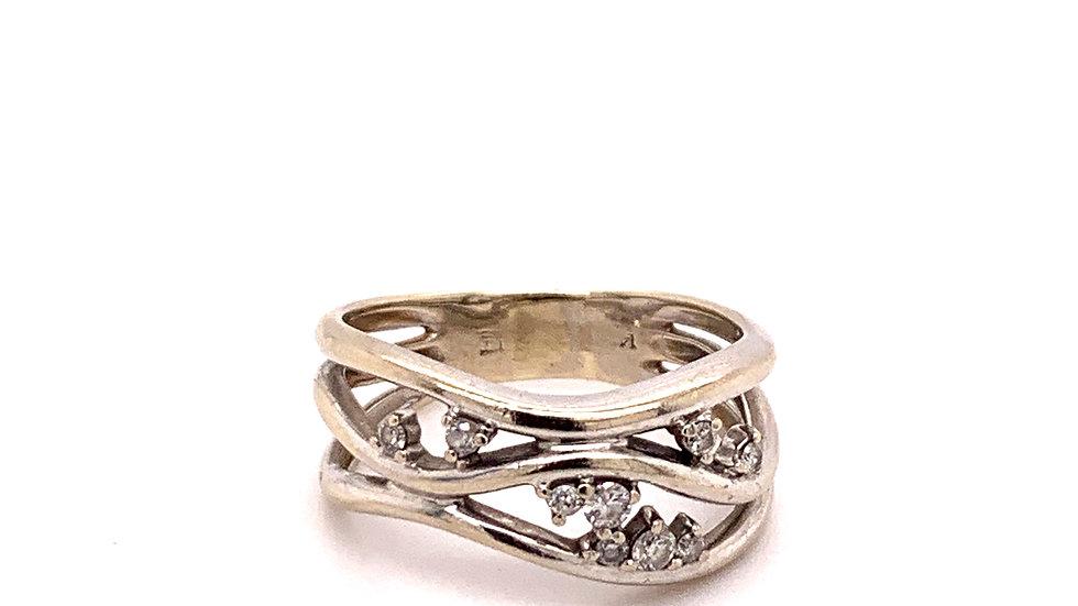 14K White Gold Fashion Ring