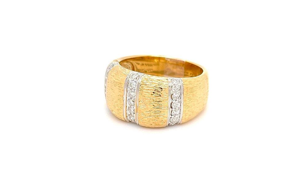14K Yellow and White Gold Diamond Band