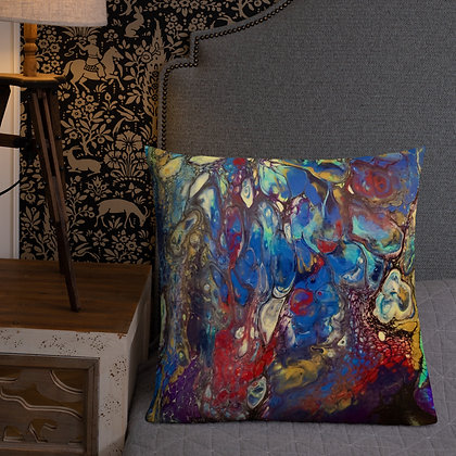 """Feeling Blue"" Premium Pillow"