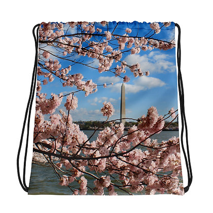 """Monumental Cherry Blossom Time"" Drawstring bag"