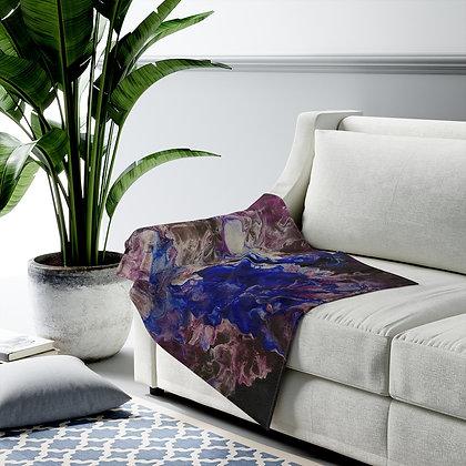 """""""In Bloom"""" Velveteen Plush Blanket"""