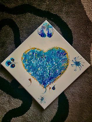 """Peacock"" Heart"