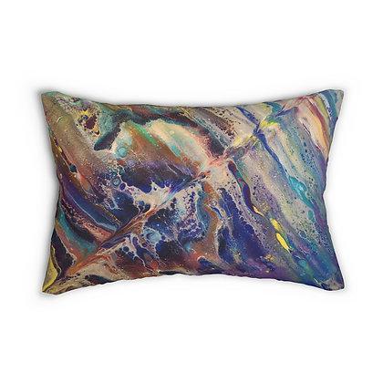 """""""Chaos"""" Spun Polyester Lumbar Pillow"""