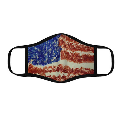 """USA Strong"" Fitted Polyester Face Mask"