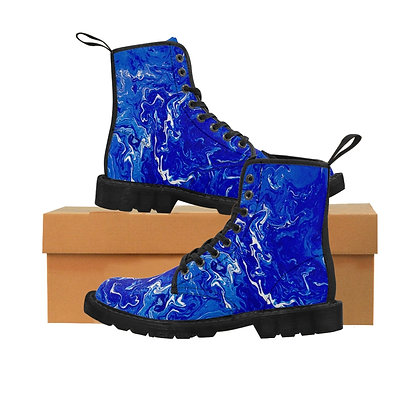 """Blue Swirl Bay"" Men's Canvas Boots"