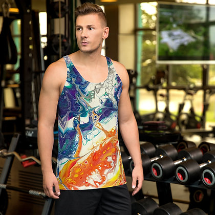 Fire and Ice Unisex Tank Top