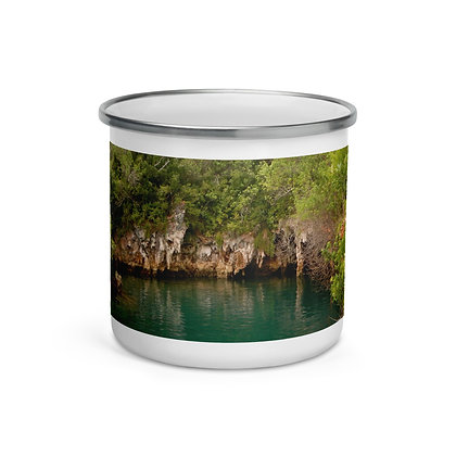 """Bermuda Beauty"" Enamel Mug"