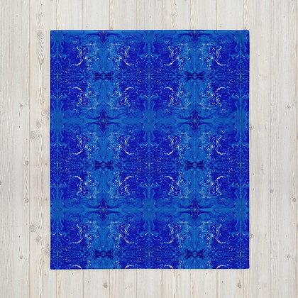 """Blue Swirl Bay"" Throw Blanket"