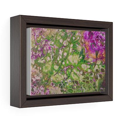 """Rose"" Horizontal Framed Premium Gallery Wrap Canvas Print"