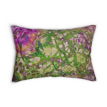 """Rose"" Spun Polyester Lumbar Pillow"