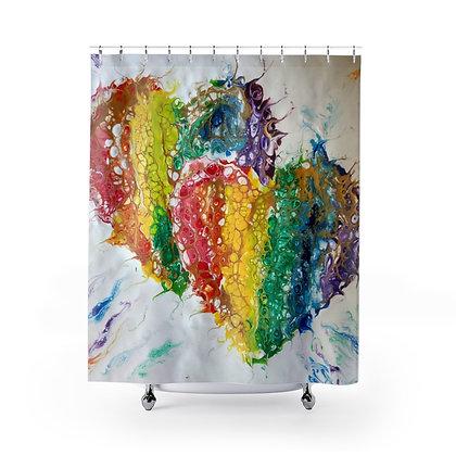"""Spread Love"" Shower Curtain"