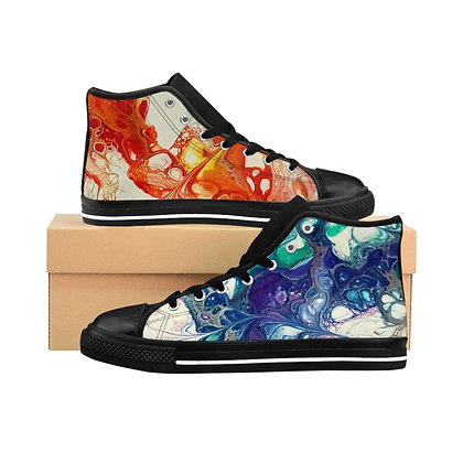Fire and Ice Men's High-top Sneakers
