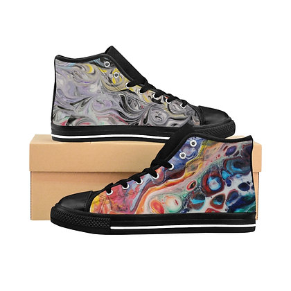 """Reflections"" Women's High-top Sneakers"