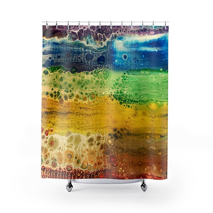 """Rainbow Falls"" Shower Curtain"