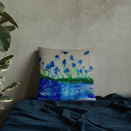 """""""Blue Delphinium """" Basic Pillow"""