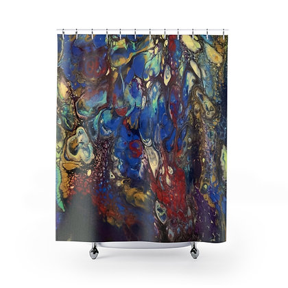 """Feeling Blue"" Shower Curtain"