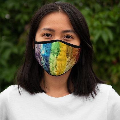 """""""Rainbow Falls"""" Fitted Polyester Face Mask"""