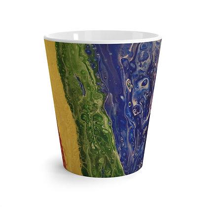 """""""Rainbow Striped"""" Latte Mug"""