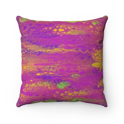 """""""Maggie"""" Faux Suede Square Pillow"""