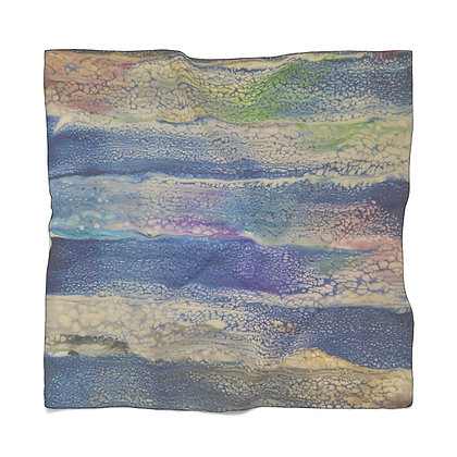 """""""Seeing Through the Blue"""" Poly Scarf"""