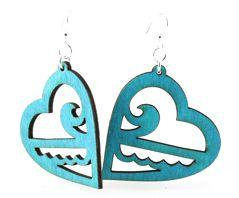 Ocean Heart Earrings # 1083