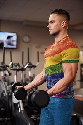"""Rainbow Striped"" Men's T-shirt"