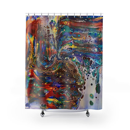 """""""Out Painting the Town"""" Shower Curtain"""