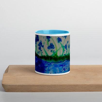 """""""Blue Delphinium"""" Mug with Color Inside"""