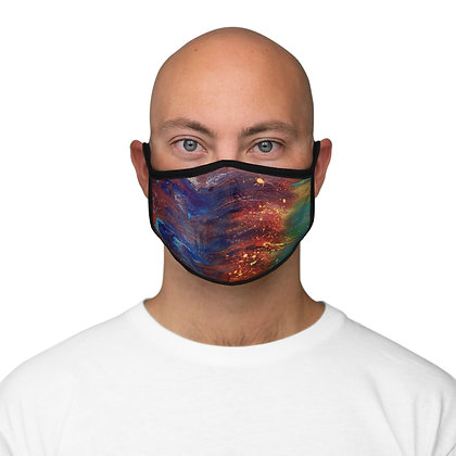 """Ride the Wave"" Fitted Polyester Face Mask"