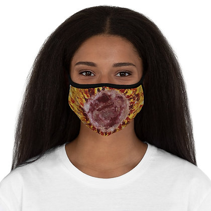 """Sunflower"" Fitted Polyester Face Mask"