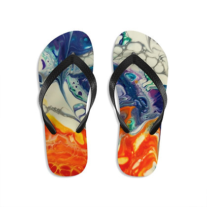 Fire and Ice Unisex Flip-Flops