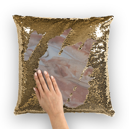 """Jesica"" Sequin Cushion Cover"