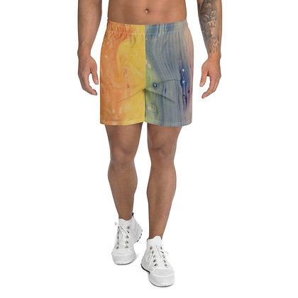 """Pastel Pride""Men's Athletic Long Shorts"