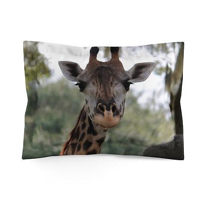 """Say What? Giraffe"" Microfiber Pillow Sham"