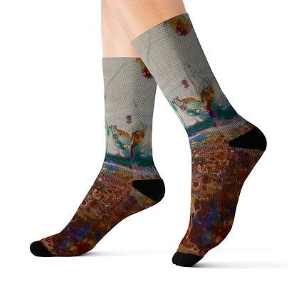 """Rainbow Garden"" Socks"