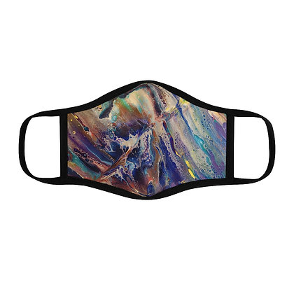 """""""Chaos"""" Fitted Polyester Face Mask"""