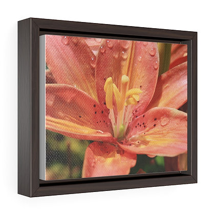 """""""Pink Lilly"""" Horizontal Framed Premium Gallery Wrap Canvas Print"""
