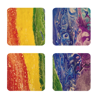 Rainbow Coasters Pack of Four