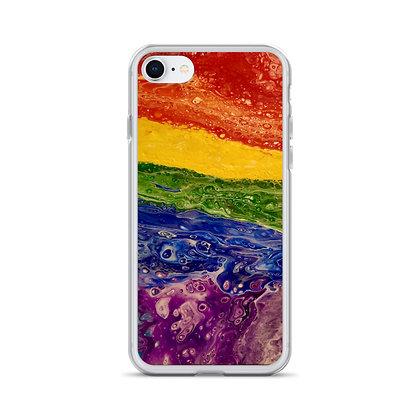 """Rainbow Striped"" iPhone Case"